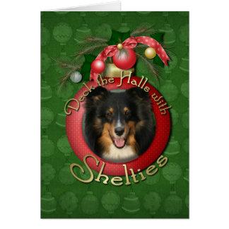 Christmas - Deck the Halls - Sheltie - Chani Card