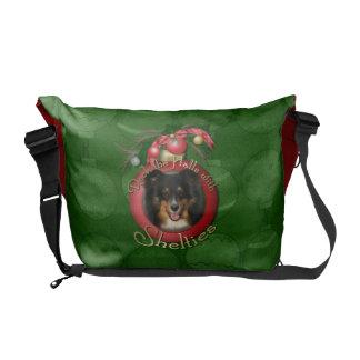 Christmas - Deck the Halls - Sheltie - Chani Courier Bag