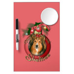 Christmas - Deck the Halls - Shelties Dry Erase White Board