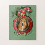 Christmas - Deck the Halls - Shelties Jigsaw Puzzle