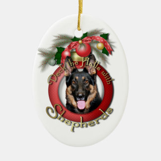 Christmas - Deck the Halls - Shepherds - Kuno Ceramic Oval Decoration