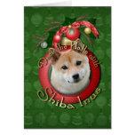Christmas - Deck the Halls - Shiba Inu Greeting Cards
