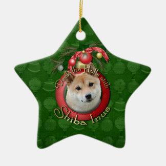 Christmas - Deck the Halls - Shiba Inu Christmas Ornament