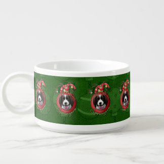 Christmas - Deck the Halls Springer Spaniel Baxter Small Soup Bowl With Handle