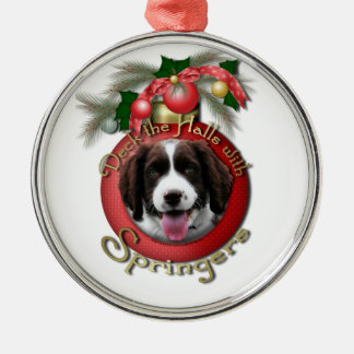 Christmas - Deck the Halls Springer Spaniel Baxter Ornaments