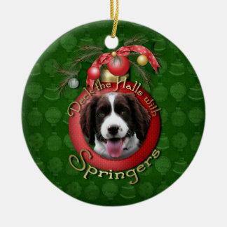 Christmas - Deck the Halls Springer Spaniel Baxter Christmas Ornament