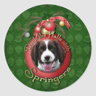 Christmas - Deck the Halls Springer Spaniel Baxter Sticker