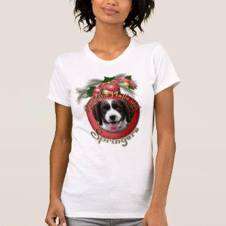 Christmas - Deck the Halls Springer Spaniel Baxter T-Shirt