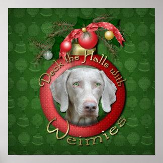 Christmas - Deck the Halls - Wiemies Poster