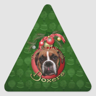 Christmas - Deck the Halls with Boxers - Marnie Sticker