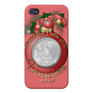 Christmas - Deck the Halls With Doggies iPhone 4/4S Cases