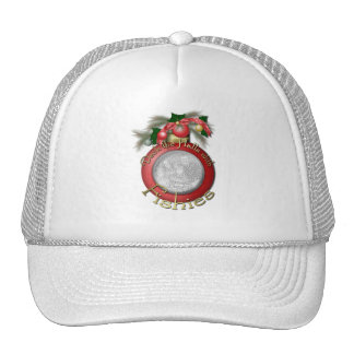 Christmas - Deck the Halls with Fishies Mesh Hat