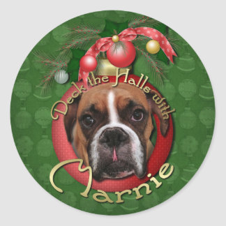 Christmas - Deck the Halls with Marnie Stickers