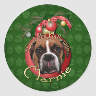 Christmas - Deck the Halls with Marnie Round Sticker