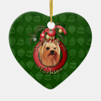 Christmas - Deck the Halls - Yorkshire Terrier Christmas Ornament