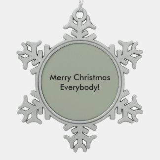 Christmas Deco Snowflake Pewter Christmas Ornament