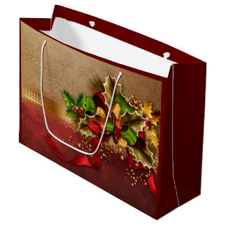 Christmas Decor Large Gift Bag