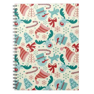 Christmas Decor - Santa, Raindeer, Snowman Spiral Notebook