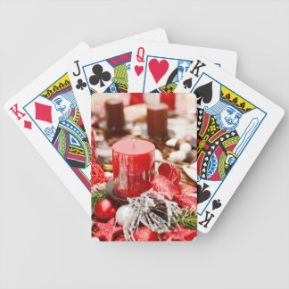 Christmas decoration bicycle playing cards