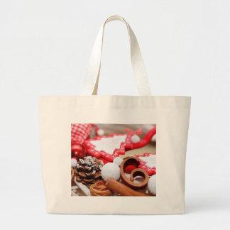 Christmas decoration jumbo tote bag