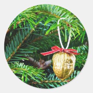 Christmas Decoration On The Tree Round Sticker