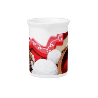 Christmas decoration pitcher
