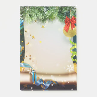 Christmas decoration post-it notes