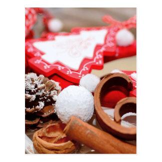Christmas decoration postcard