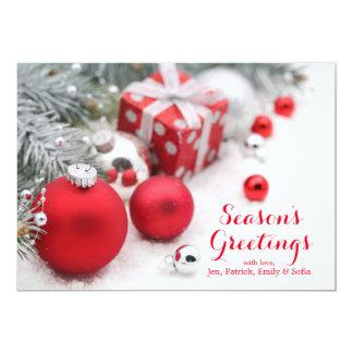 Christmas Decoration With Fir Branch 13 Cm X 18 Cm Invitation Card