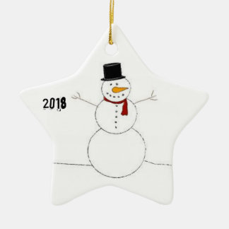 Christmas decoration with snowman (2018)