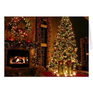 Christmas decorations - christmas tree card