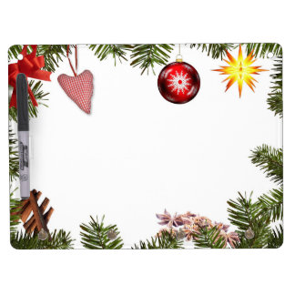 Christmas decorations dry erase board with key ring holder