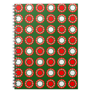 Christmas Decorations Festive Design Spiral Note Book