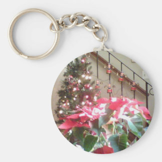 Christmas Decorations Basic Round Button Key Ring