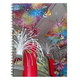 Christmas decorations spiral notebooks