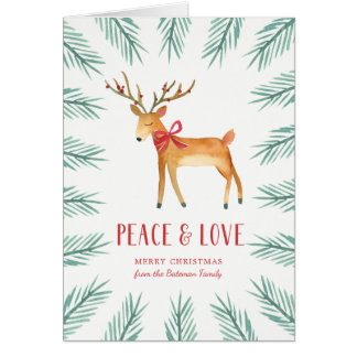 Christmas Deer Holiday Greeting Card