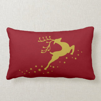 Christmas deer lumbar cushion