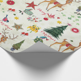 Christmas Deer | Name | Glossy Wrapping Paper