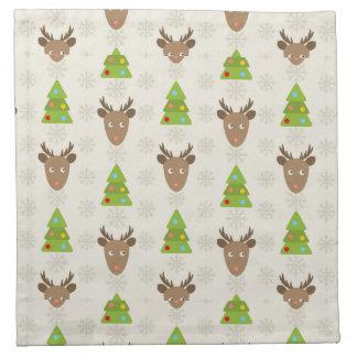 Christmas Deer Napkin