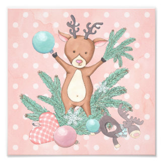 Christmas Deer Photo Print