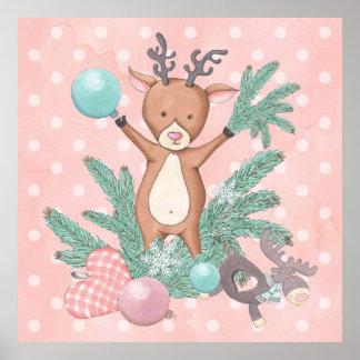 Christmas Deer Poster