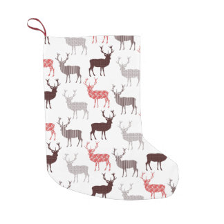 Christmas Deer / Reindeer Decorative Pattern Small Christmas Stocking