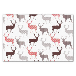 Christmas Deer / Reindeer Decorative Pattern Tissue Paper