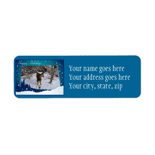 Christmas Deer Return Address Label