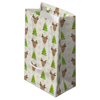 Christmas Deer Small Gift Bag