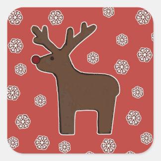 Christmas deer! square sticker