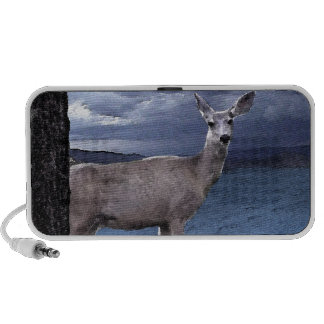 Christmas Deer with Mountains iPhone Speaker