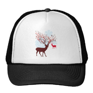 Christmas Deer with tree branch antlers Hats