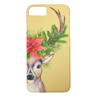 Christmas Deer Woodland Holiday Illustration iPhone 7 Case