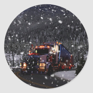Christmas delivery classic round sticker